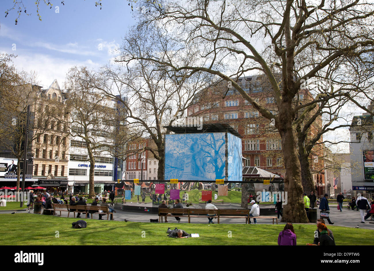 View of Leicester Square, West End, London, England, United Kingdom - Stock Image