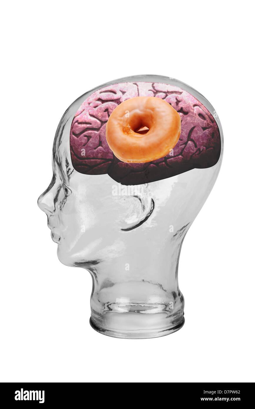 Donut Brain. - Stock Image