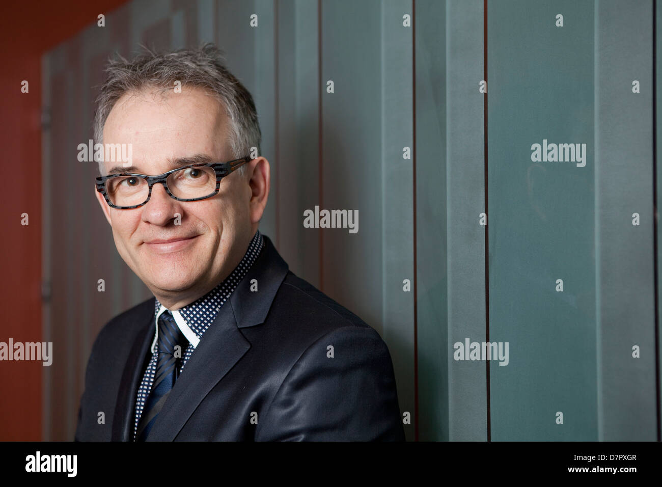 Rejean Hebert, Minister of Health and Social Services for the PQ, is pictured at his office in Quebec City - Stock Image