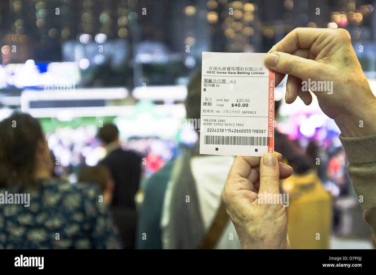 Racecourse bet taker