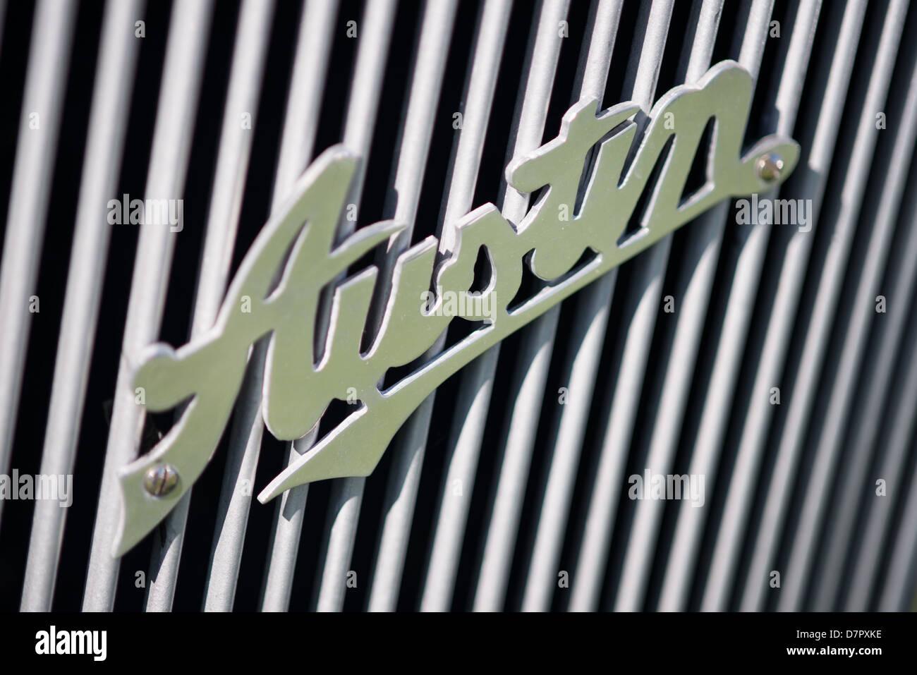 Austin Vintage Car logo badge emblem - Stock Image