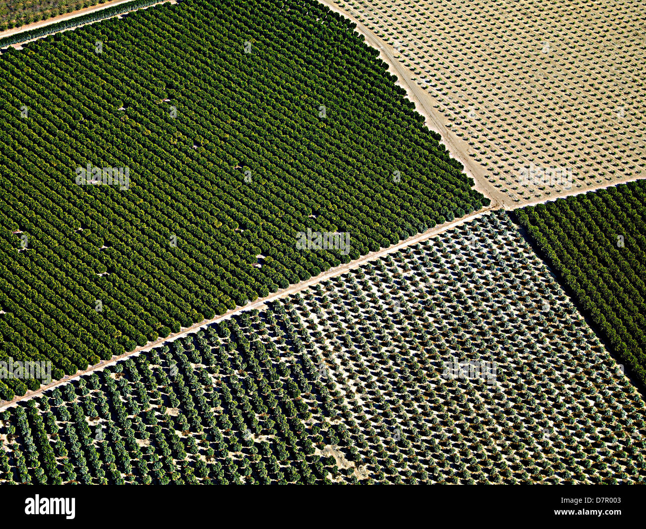 aerial shots of southern california - Stock Image