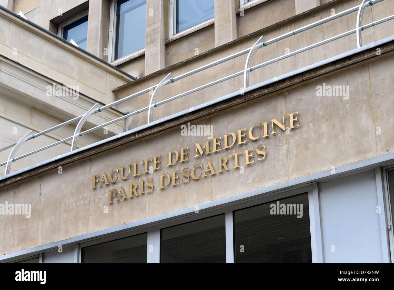 Paris Descartes university in the Latin Quarter, Paris - France - Stock Image