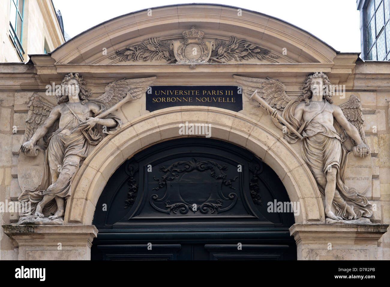 Sorbonne university in the Latin Quarter, Paris - France - Stock Image