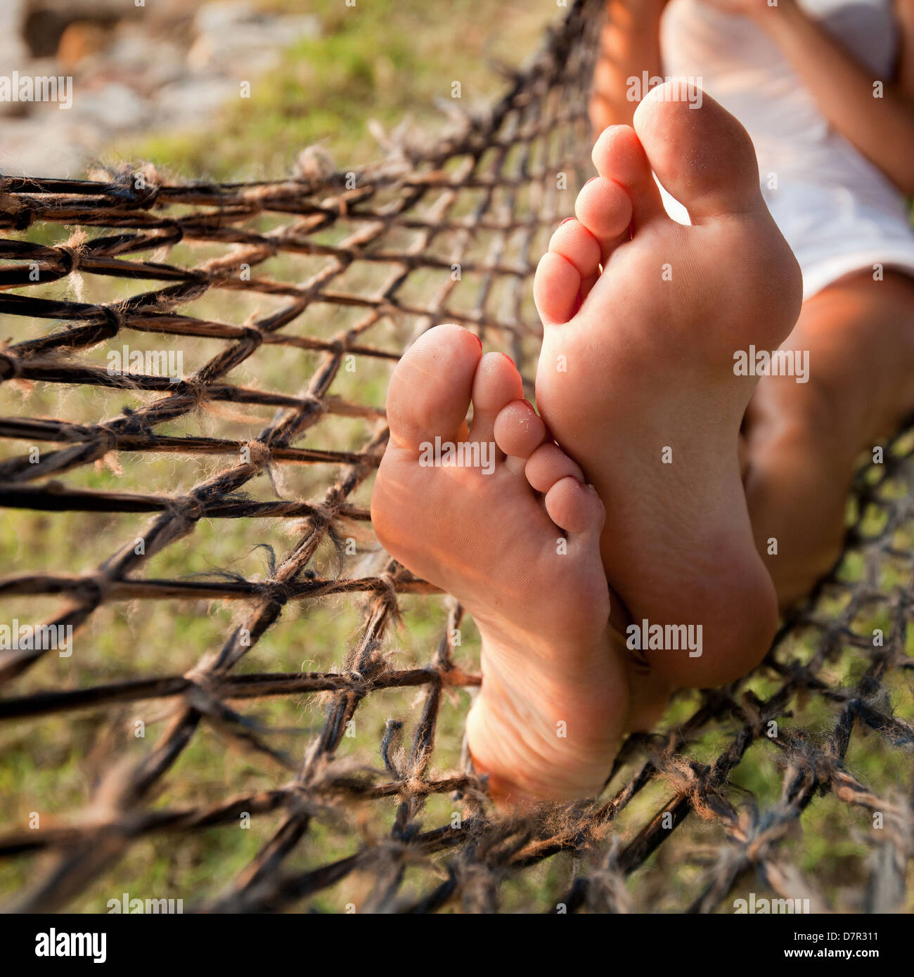 relax in hammock, lazy vacations - Stock Image