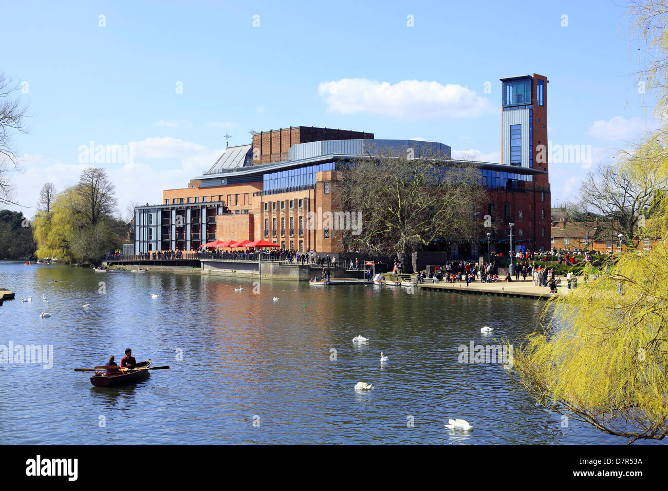 Royal Shakespeare Company Theatre at Stratford on Avon England. - Stock Image