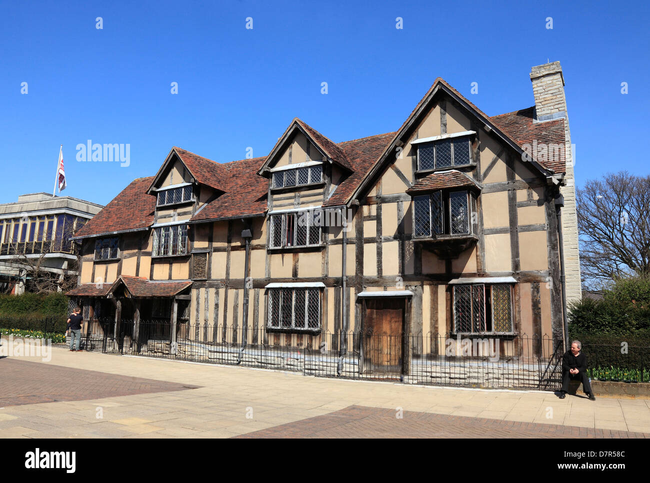 Shakespeare's Birthplace at Stratford on Avon England - Stock Image