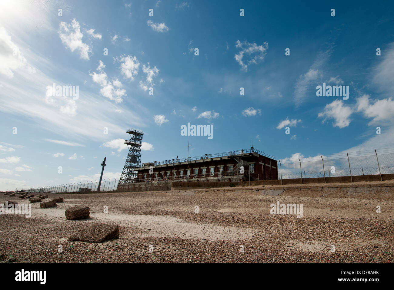 mod radar station at Eastney point Southsea UK - Stock Image