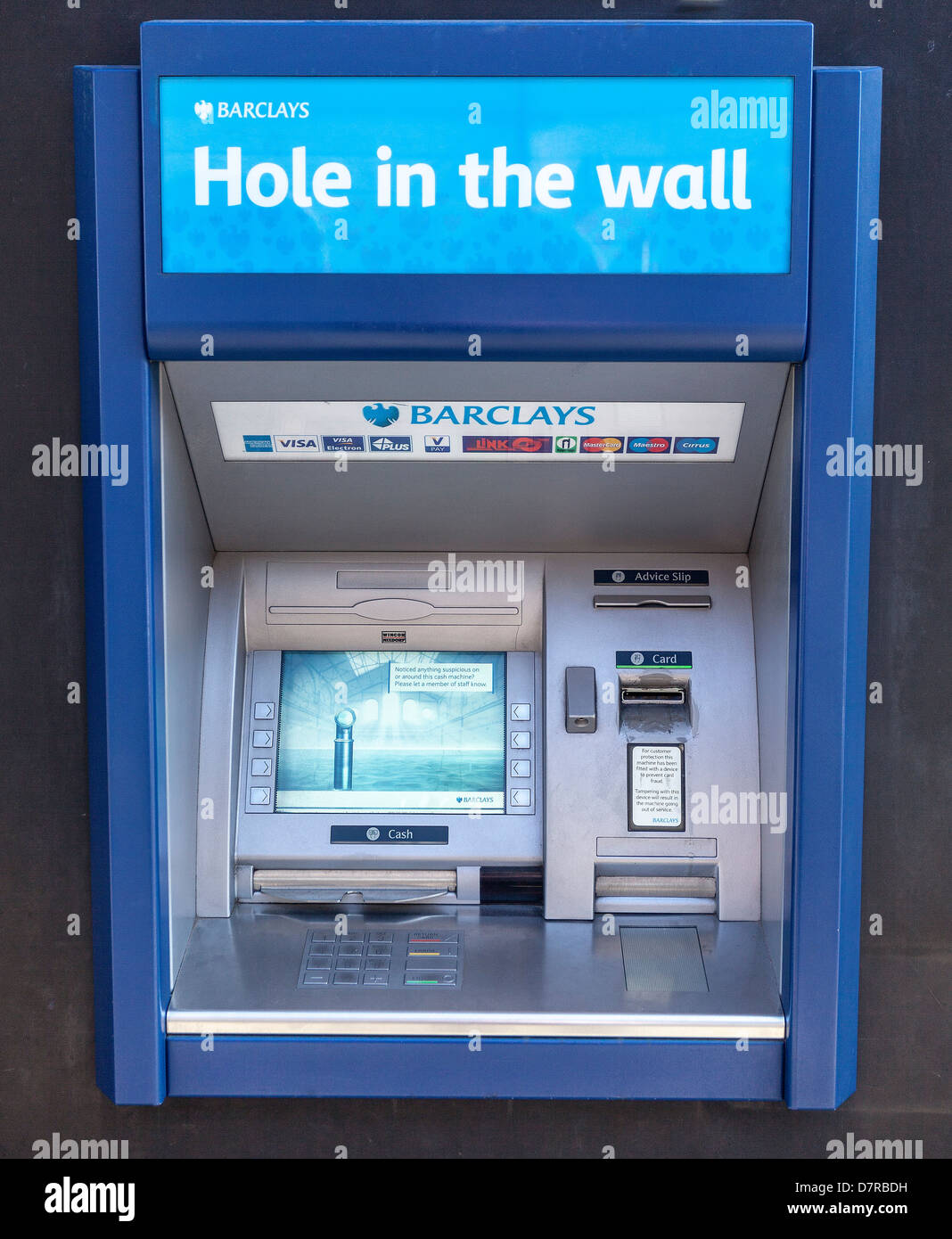 ATM cashpoint Machine - Stock Image