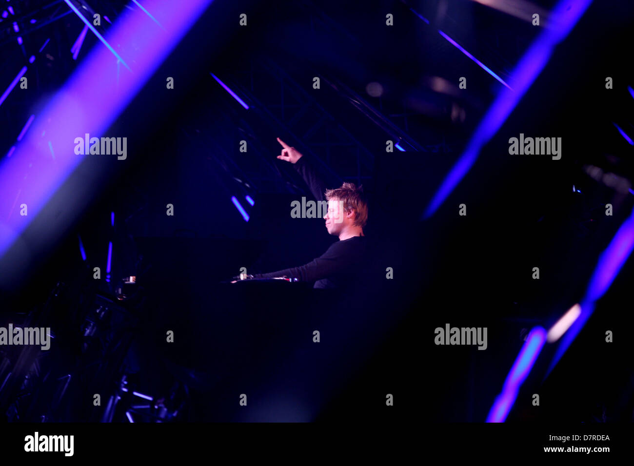 DJ Ferry Corsten at work at Trance Energy - Stock Image