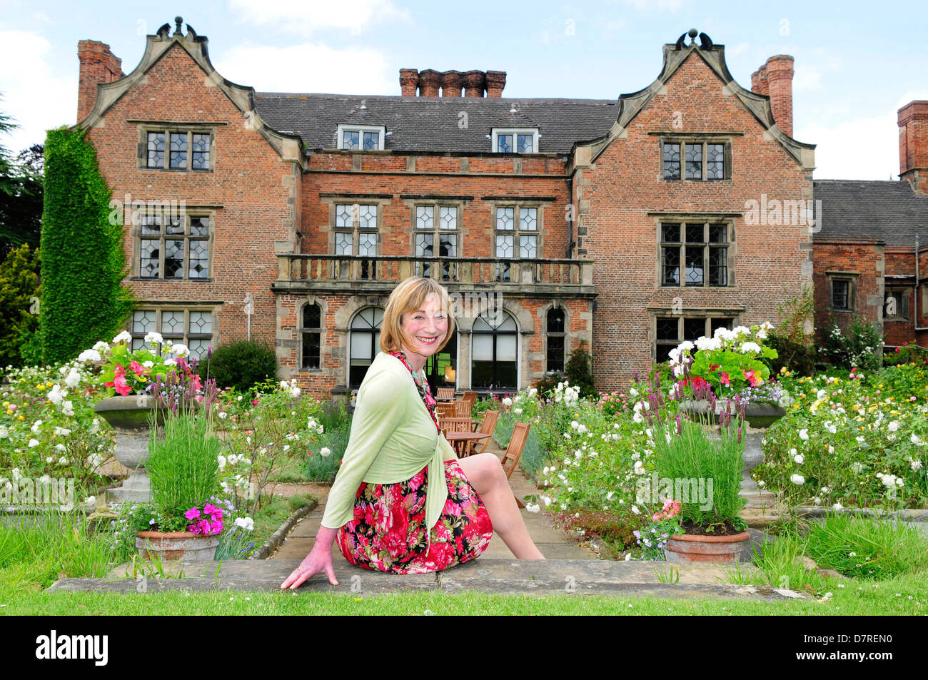 Lady of the Manor and author Miranda Seymour. - Stock Image