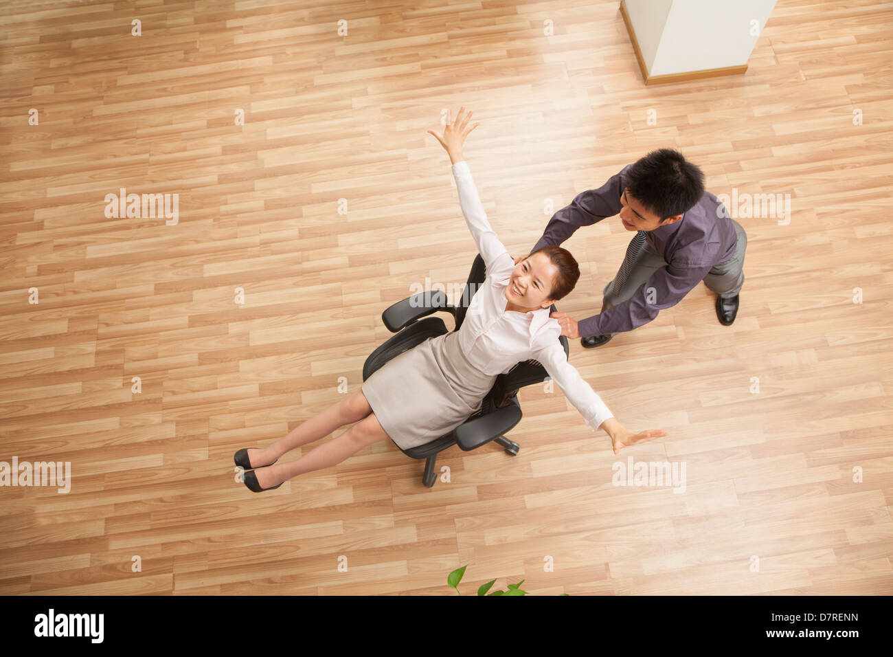 Coworkers enjoying free time - Stock Image