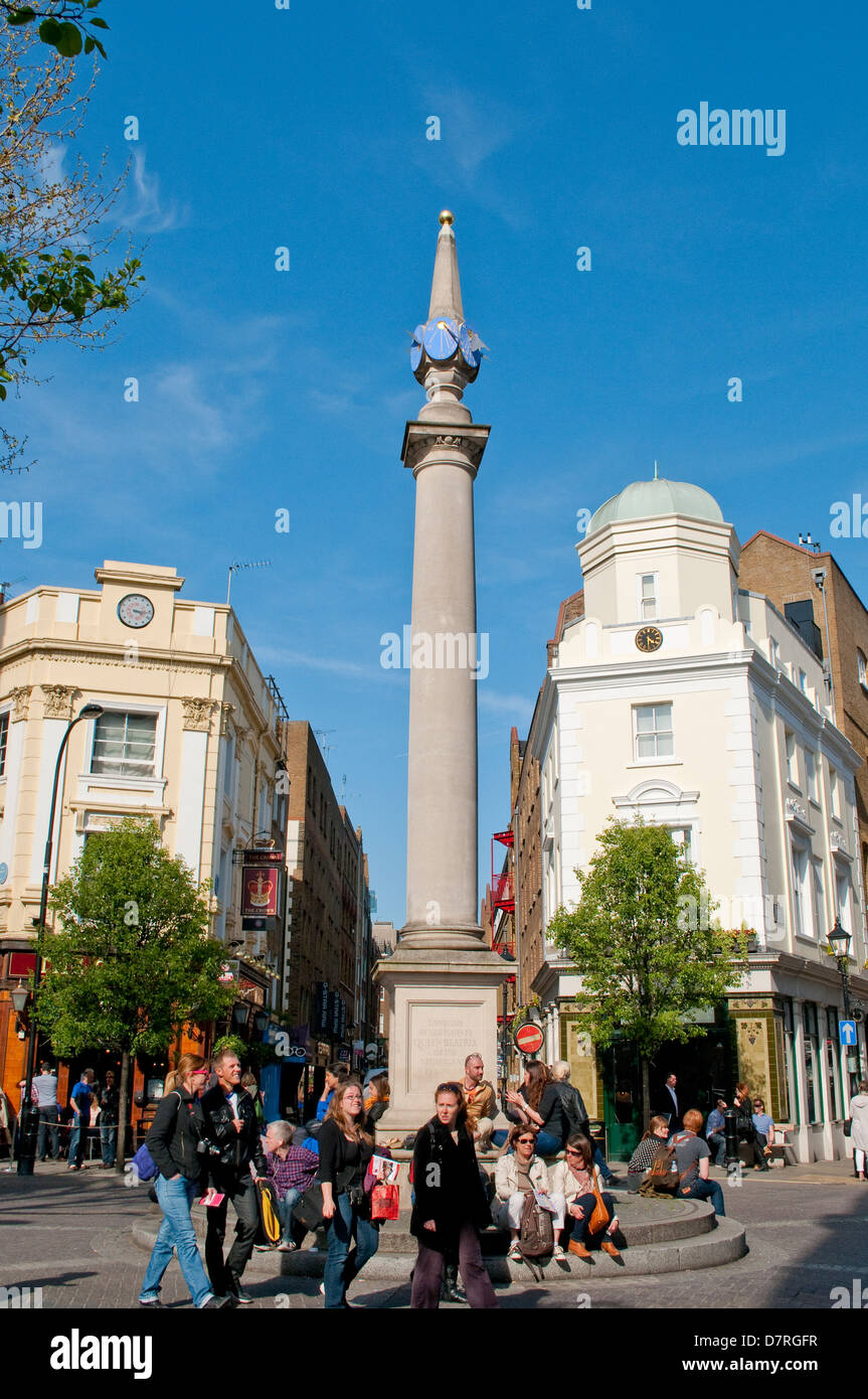 The Seven Dials, Covent Garden, London, UK - Stock Image