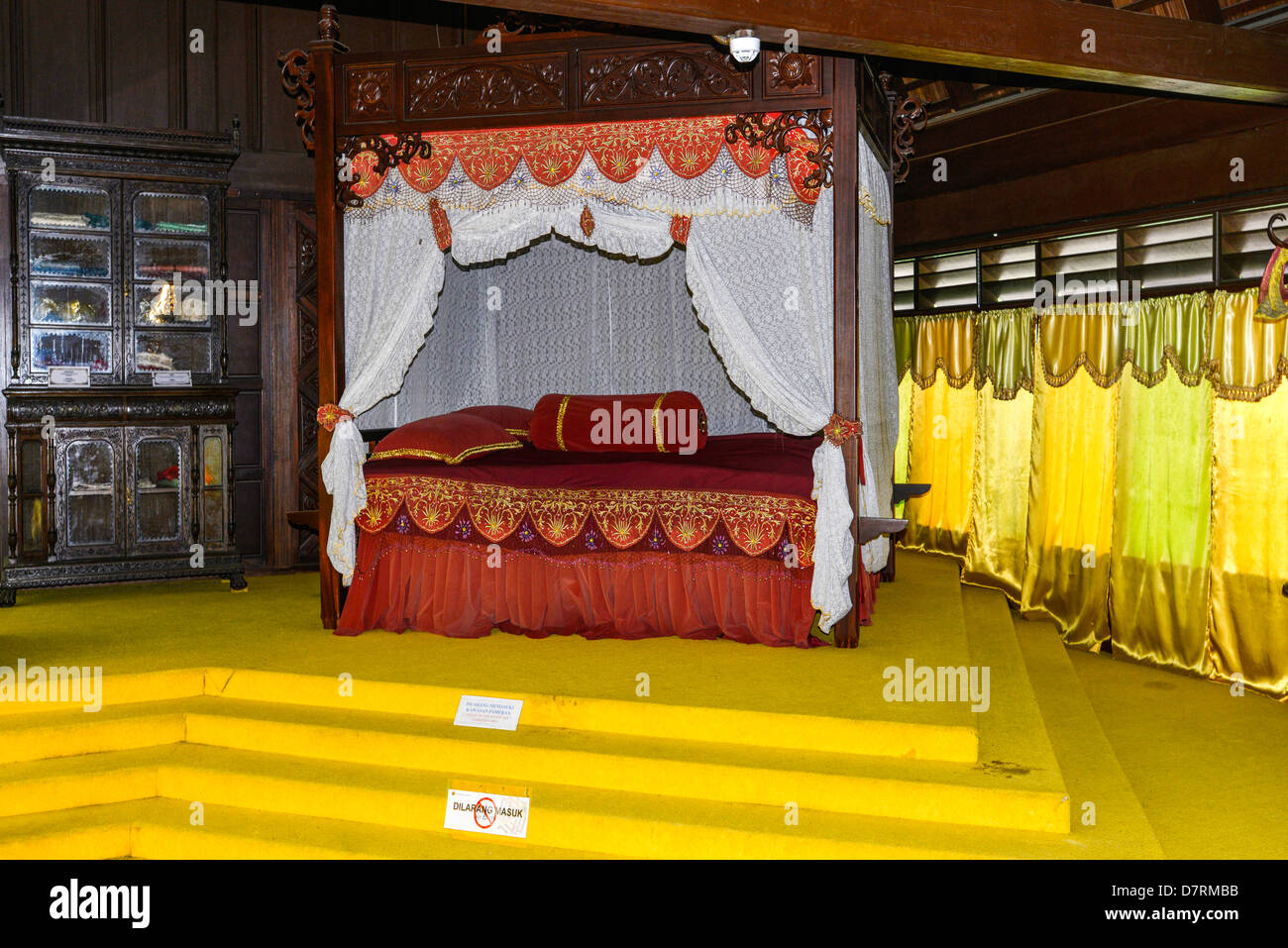 Asia  Malaysia Malacca Sultanate Palace Museum The sultan's bedroom - Stock Image