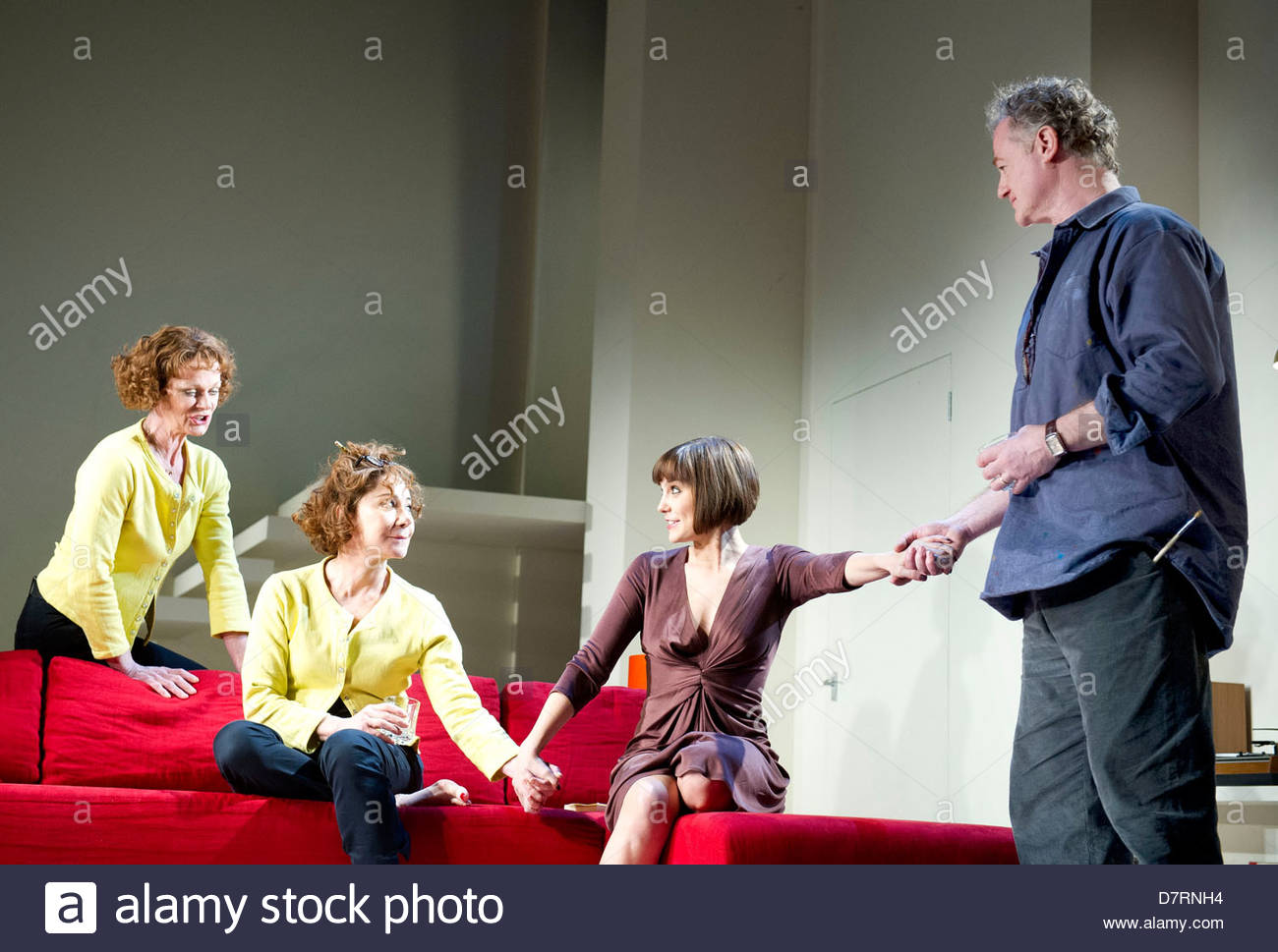 Passion Play by Peter Nichols, directed by David Leveaux. With Samantha Bond as Nell, Zoe Wanamaker as Eleanor,Annabel - Stock Image