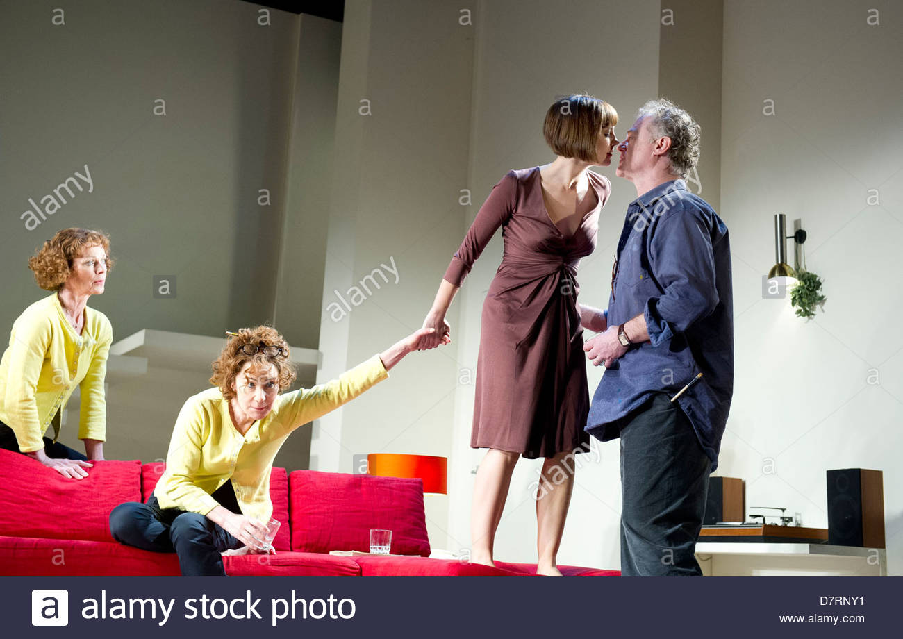 Passion Play by Peter Nichols, directed by David Leveaux. With Oliver Cotton as Jim, Samantha Bond as Nell, Zoe - Stock Image