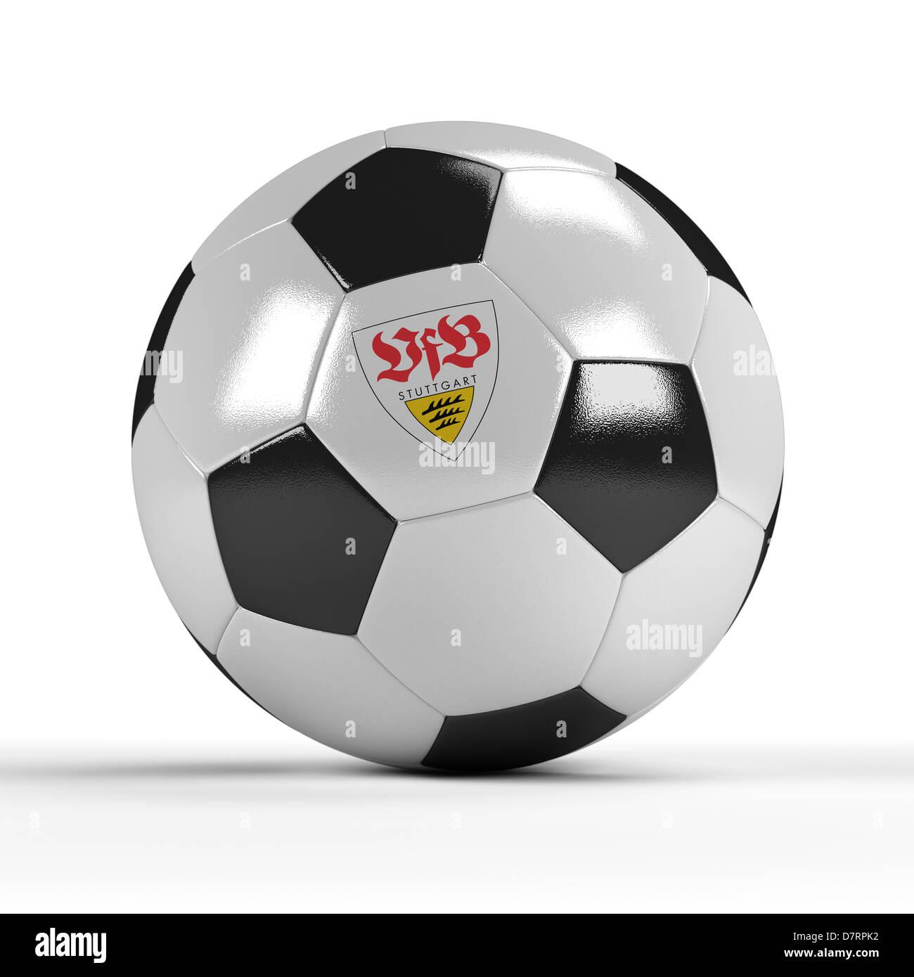 VfB Stuttgart soccer ball - Stock Image