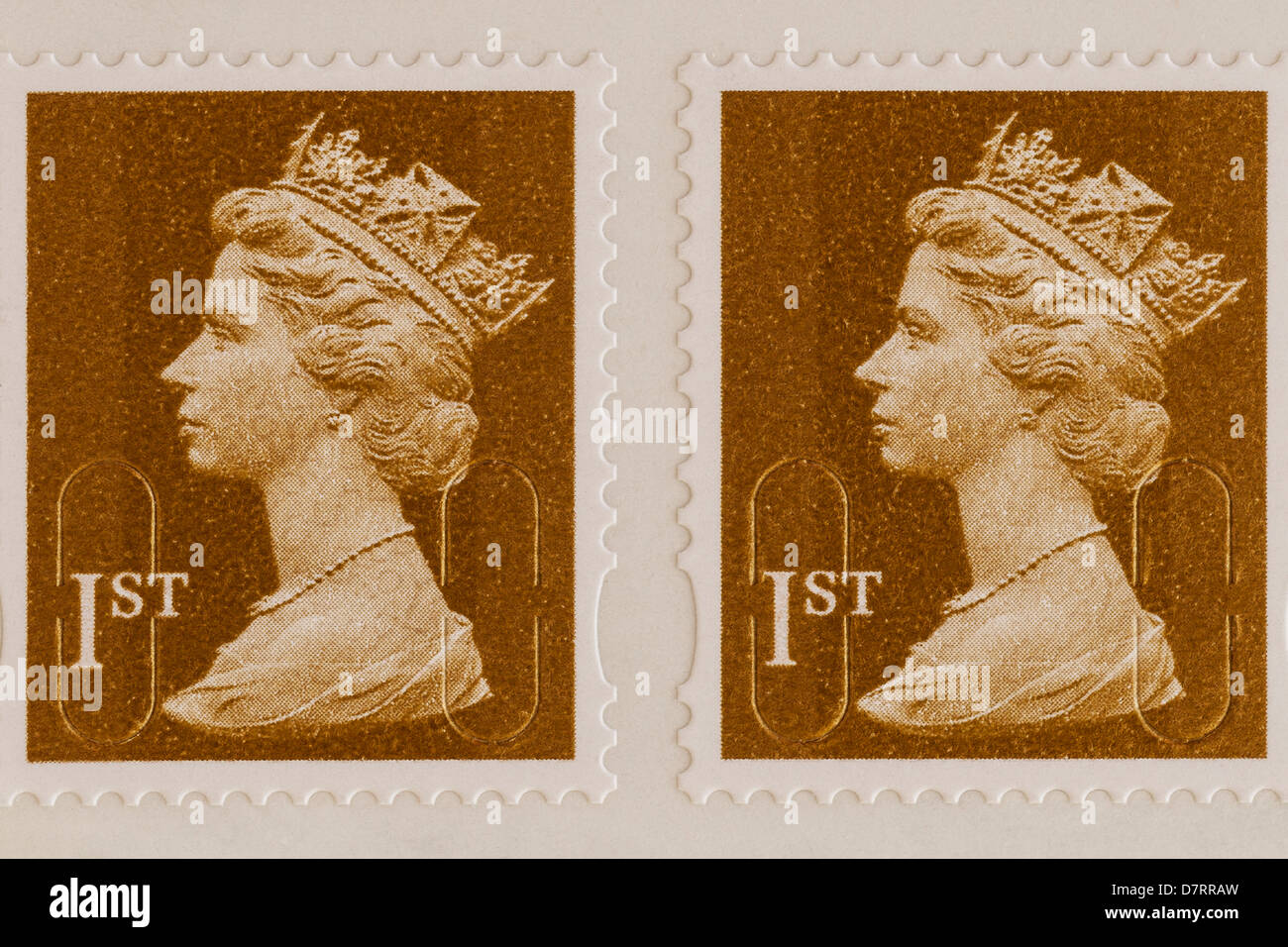 Royal Mail 1st class postage stamps - Stock Image