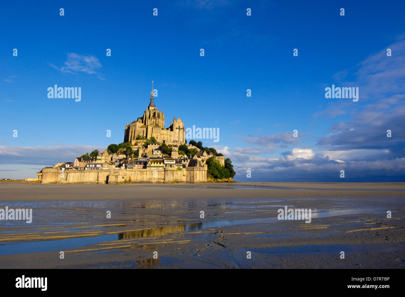 Mont-Saint-Michel (Benedictine abbey). Normandy. France - Stock Image