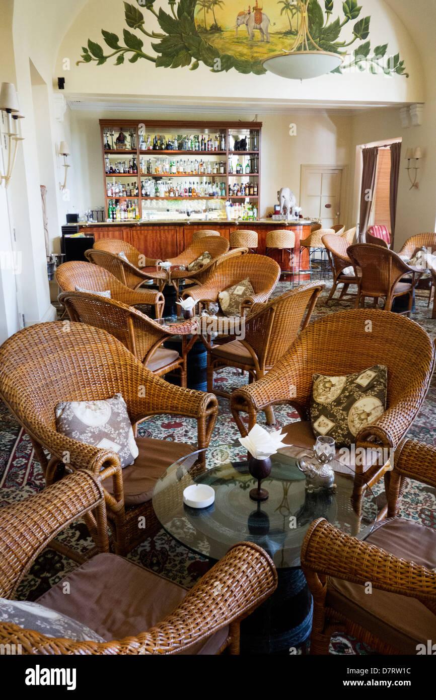 Elephant Bar at the luxury hotel Raffles Le Royal Hotel ; Phnom Penh; Cambodia - Stock Image