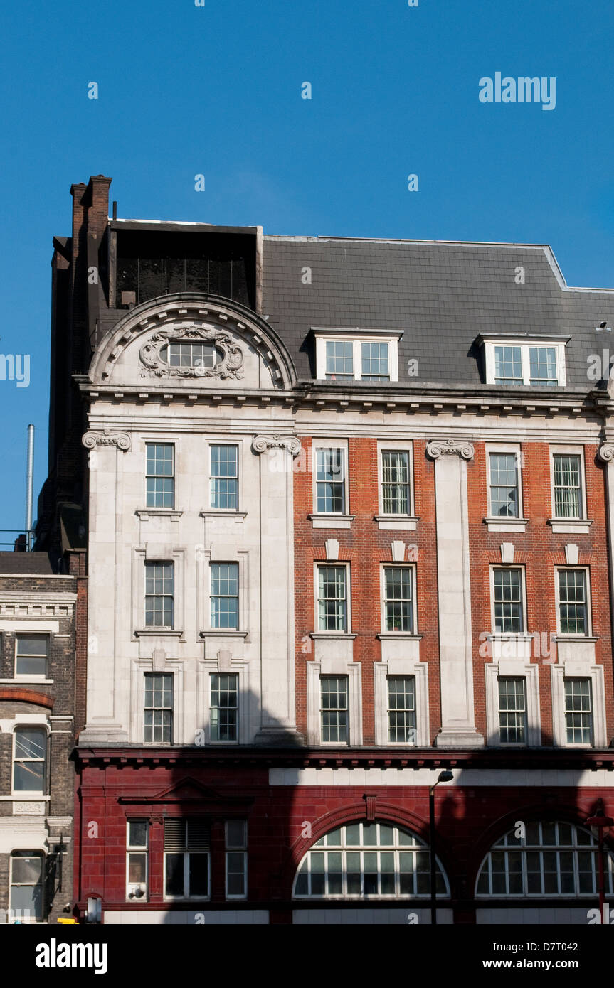 Building above Leicester Square tube station, Charing Cross Road, London, UK - Stock Image