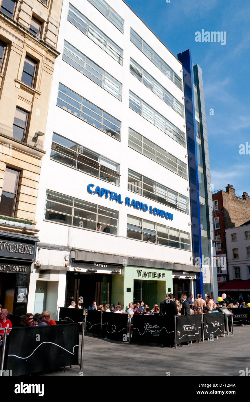 Capital Radio building, Leicester Square, London, UK - Stock Image