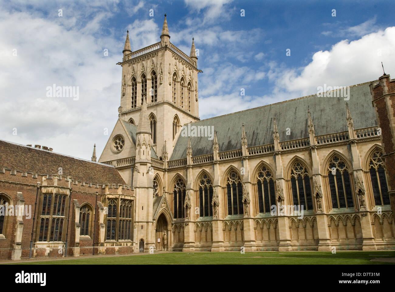 Cambridge University UK St Johns College Chapel. HOMER SYKES - Stock Image