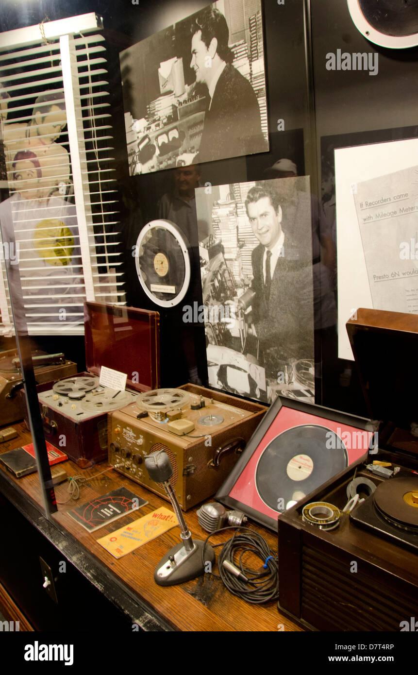 Tennessee, Memphis. Sun Studio. Sun Records memorabilia. - Stock Image