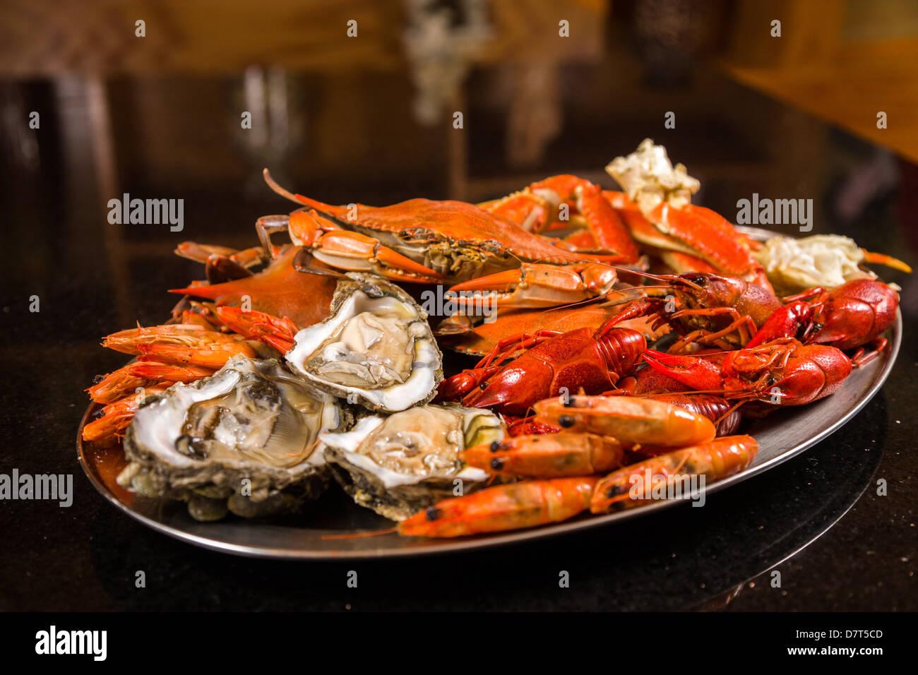 Seafood display - Stock Image