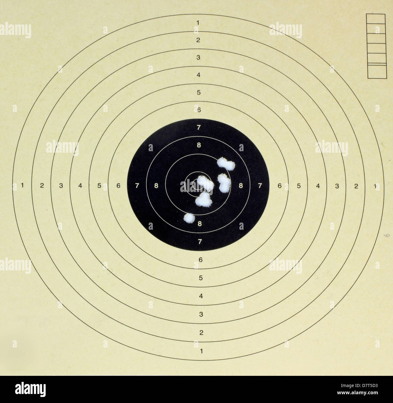 target with bullet holles - Stock Image