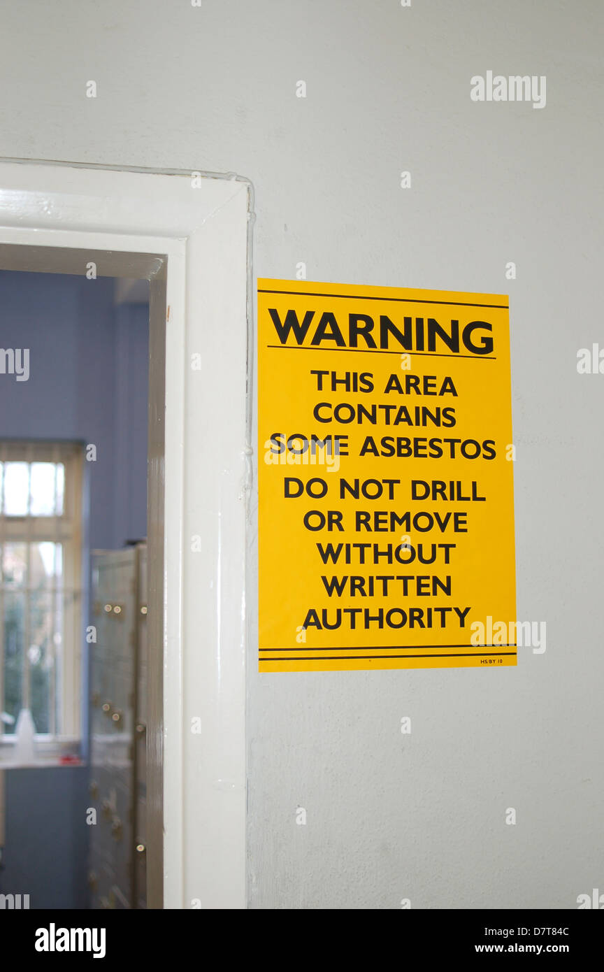 Asbestos notice number 3316 - Stock Image