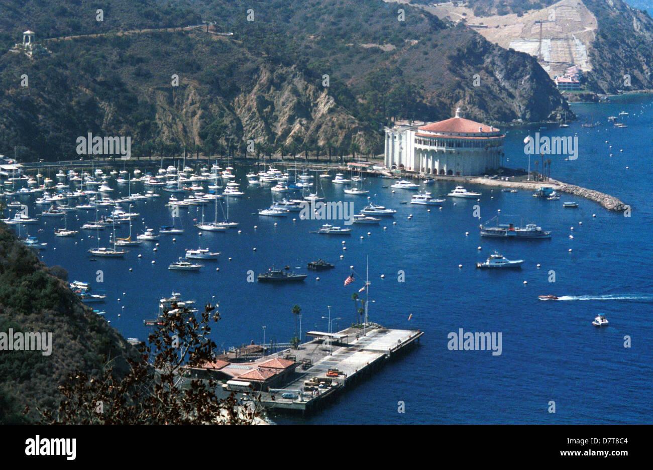 avalon casino santa catalina island off coast of los angeles stock