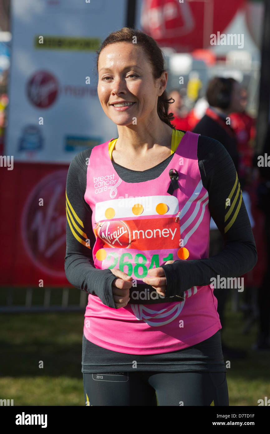 Amanda Mealing Actress actress amanda mealing. celebrity runners at a photocall