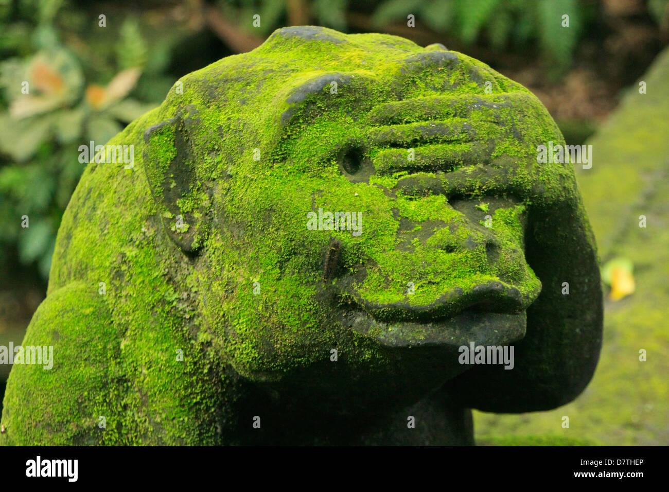 Statue of monkey, Ubud Monkey Forest, Bali, Indonesia - Stock Image