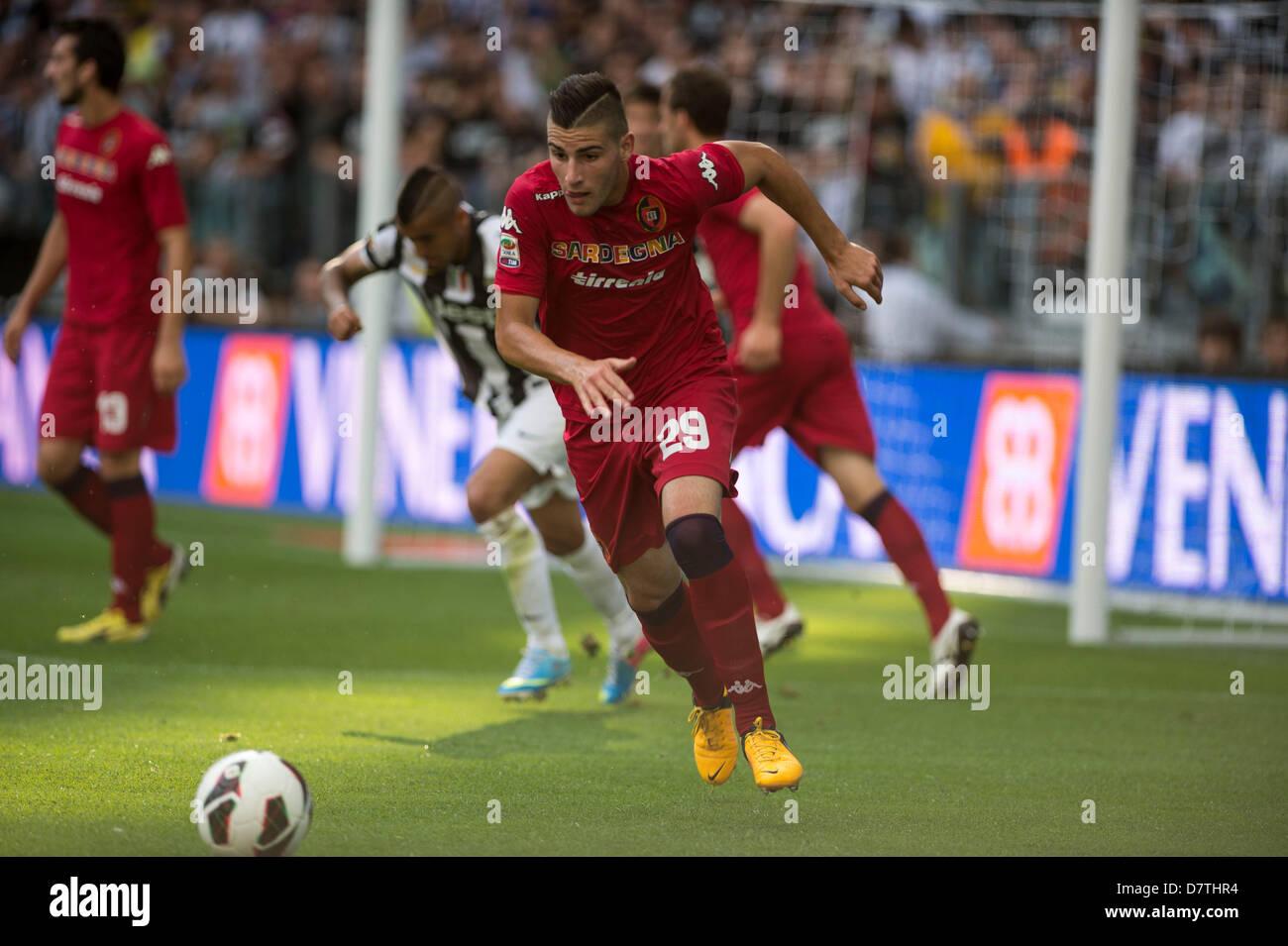 "Nicola Murru (Cagliari), MAY 11, 2013 - Football / Soccer : Italian ""Serie A"" match between Juventus 1-1 Cagliari Stock Photo"