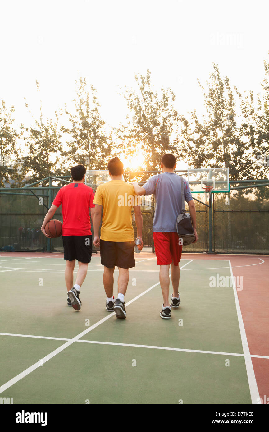 Friends Going Back Home After Basketball Game Stock Photo Alamy