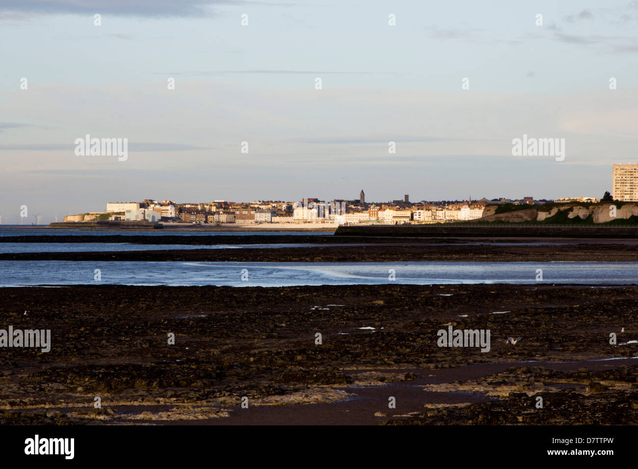 looking towards margate from westgate Stock Photo
