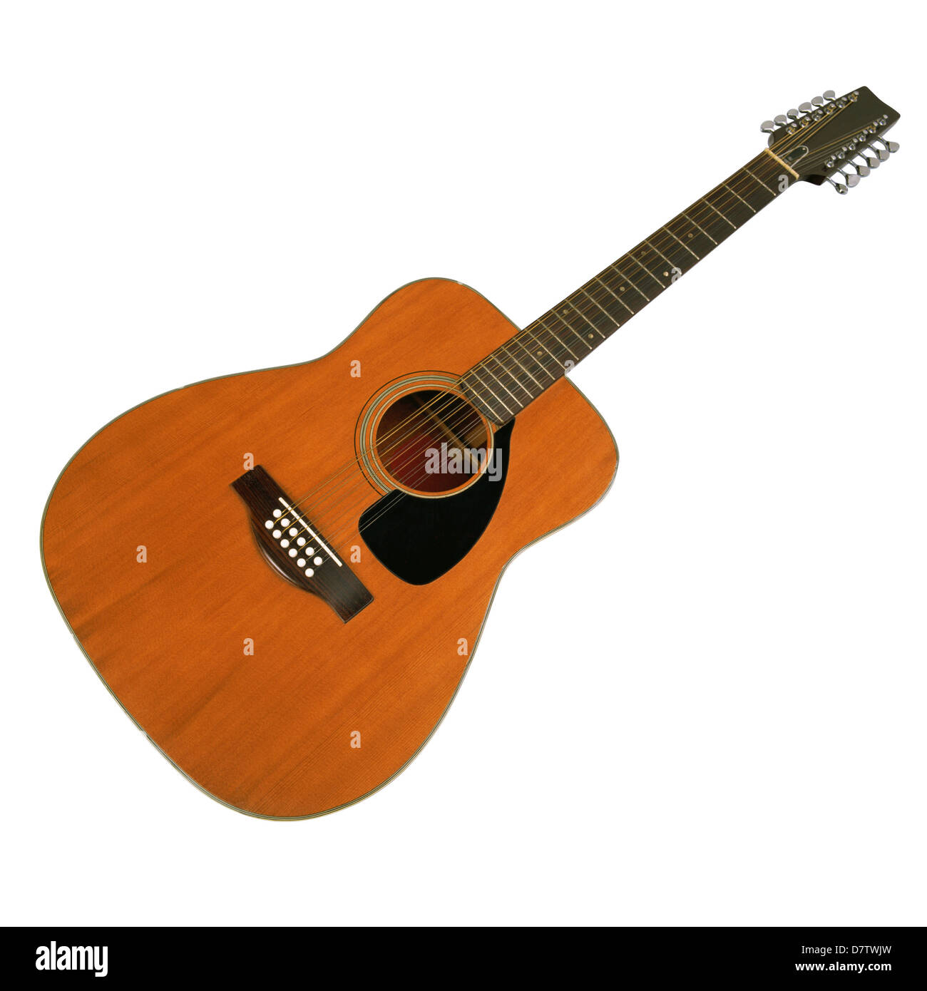 Acoustic Guitar On A White Background Stock Photo 56480673 Alamy