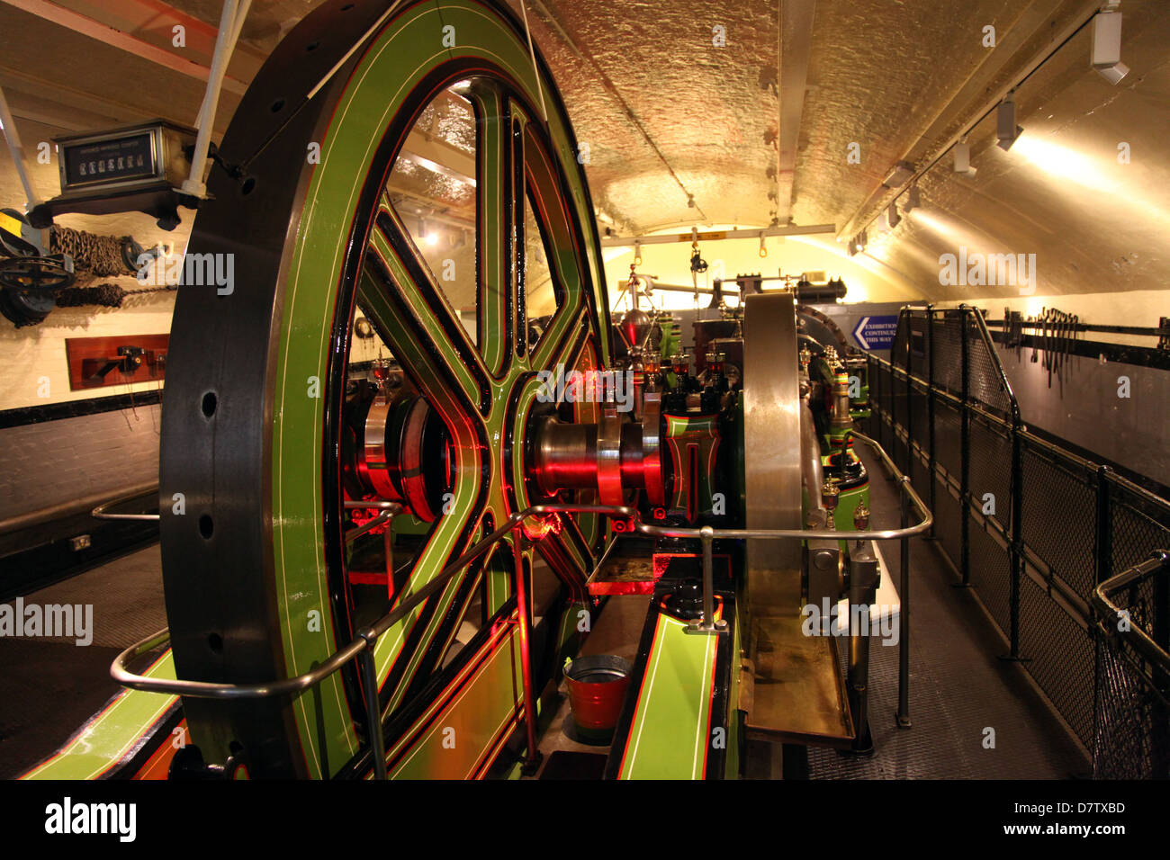 Engines for lifting gear, Tower Bridge, London, England, United Kingdom Stock Photo