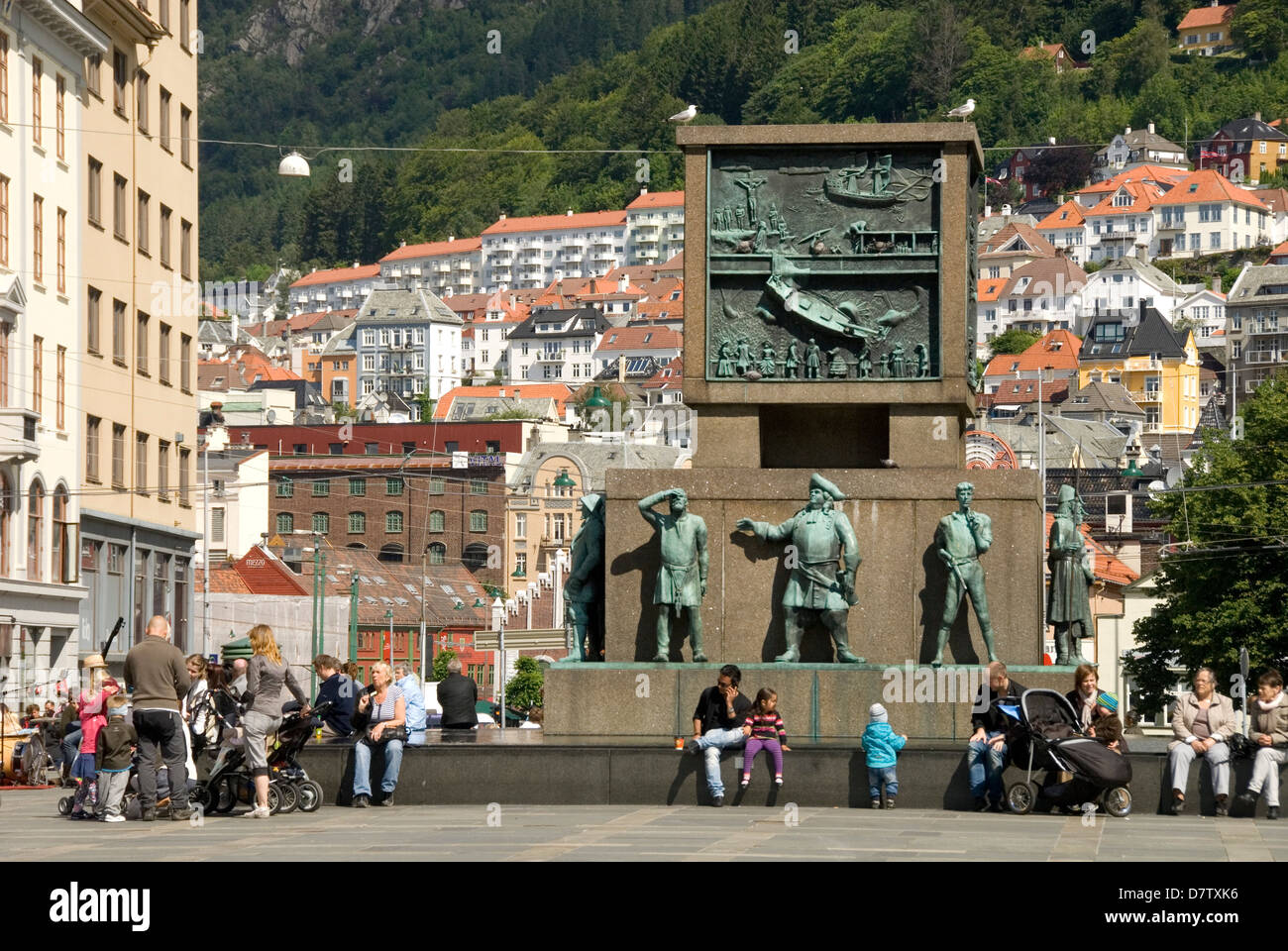 Sailors' Monument, in Torgallmeningen, Bergen, Norway, Scandinavia - Stock Image