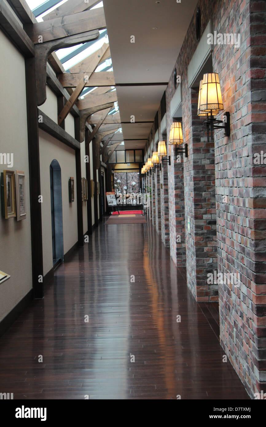 Hotel Corridor - Stock Image
