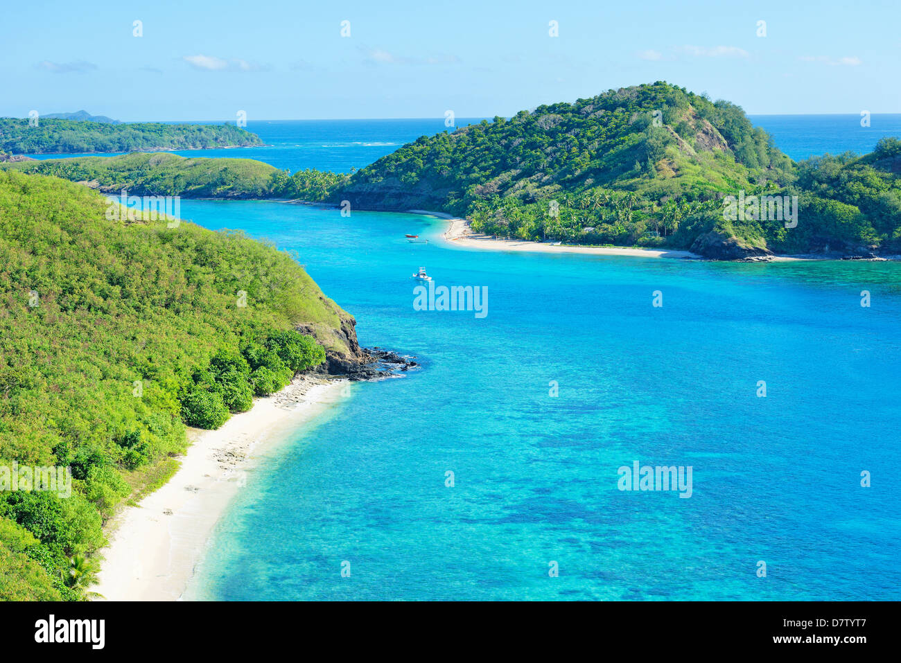 Drawaqa Island, Yasawa island group, Fiji, South Pacific islands - Stock Image