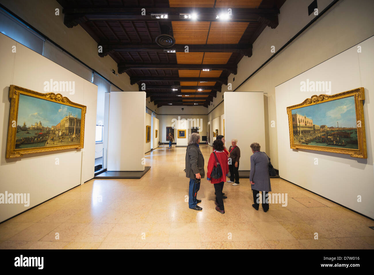 Art gallery, Museum at Castle Sforzesco, Milan, Lombardy, Italy - Stock Image
