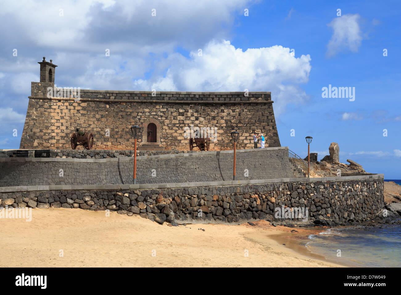 San Gabriel Castle, Arrecife, Lanzarote Island, Canary Islands, Spain, Atlantic - Stock Image