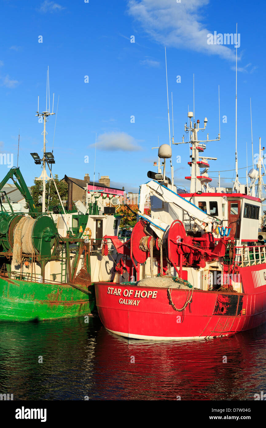 Trawlers on Penrose Wharf, Cork City, County Cork, Munster, Republic of Ireland - Stock Image