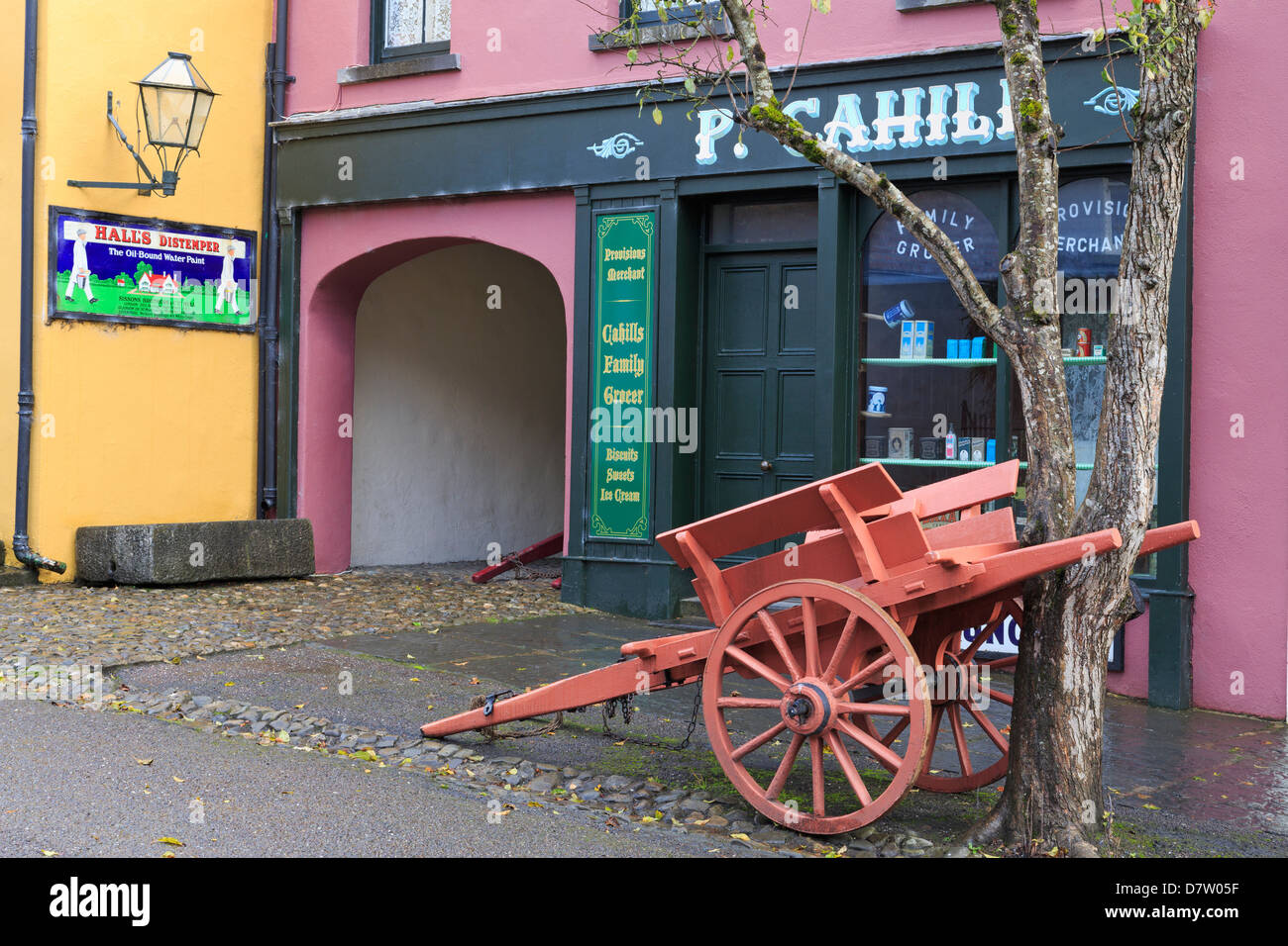 Bunratty Castle and Folk Park, County Clare, Munster, Republic of Ireland - Stock Image