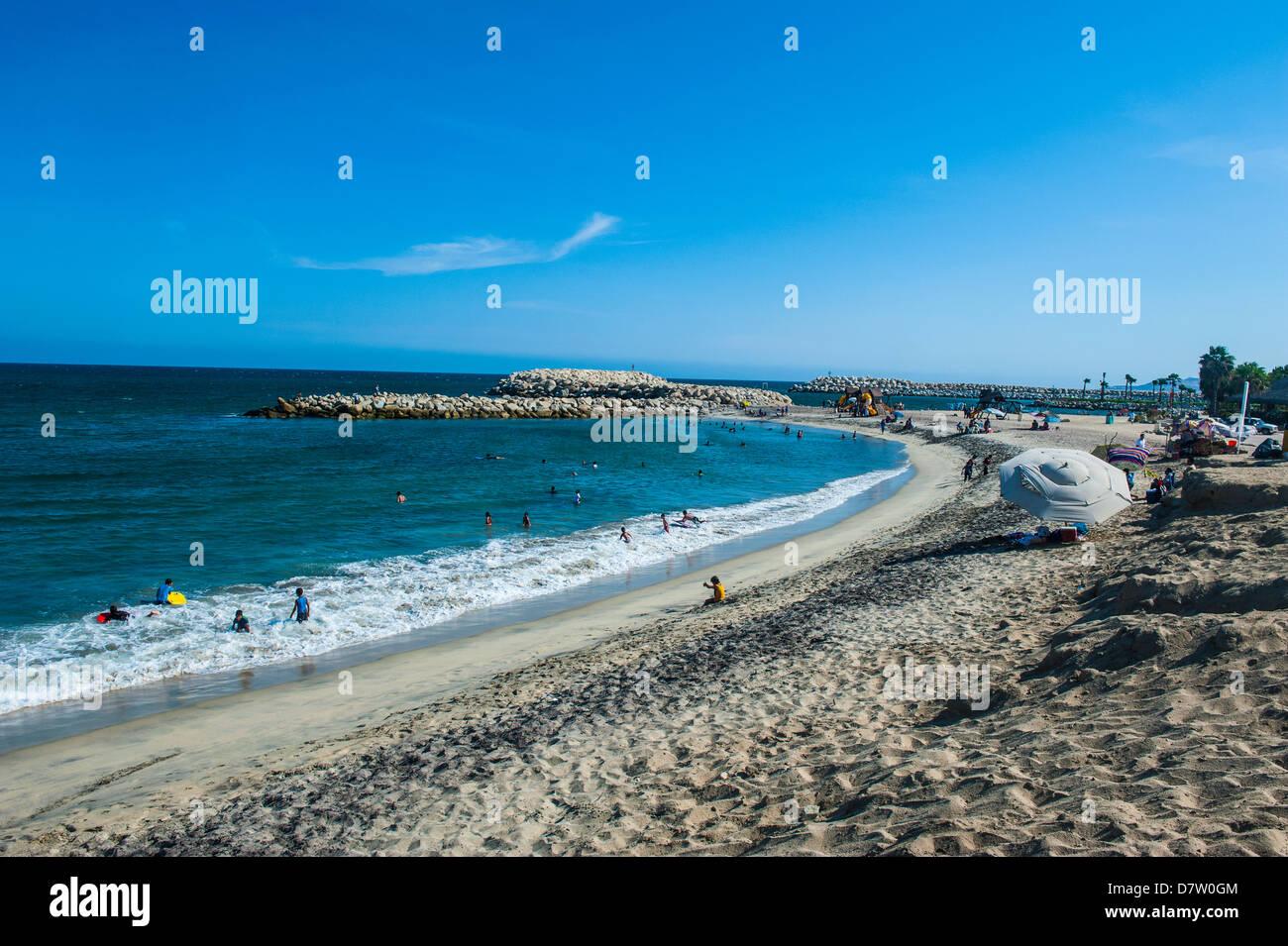 Beach in Puerto Los Cabos part of San Jose del Cabo, Baja California, Mexico - Stock Image