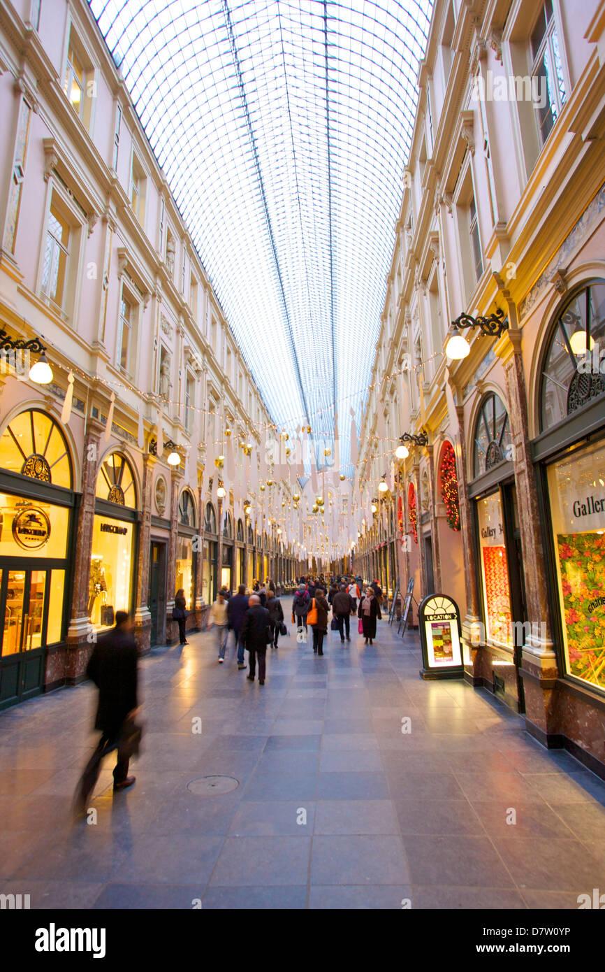 Galleries St. Hubert, Brussels, Belgium - Stock Image