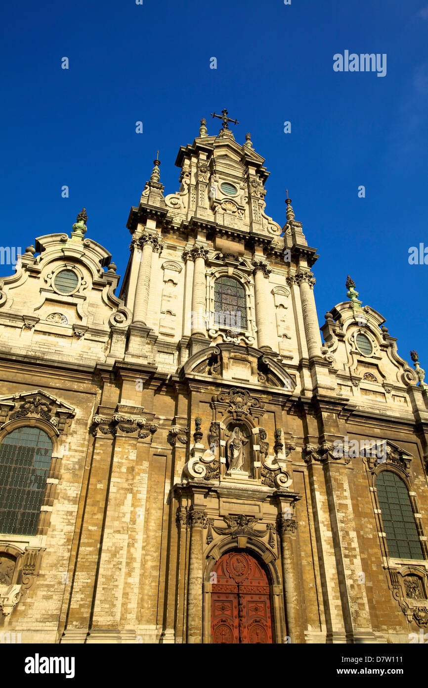 Eglise St. Jean Baptiste au Beguinage, Brussels, Belgium Stock Photo