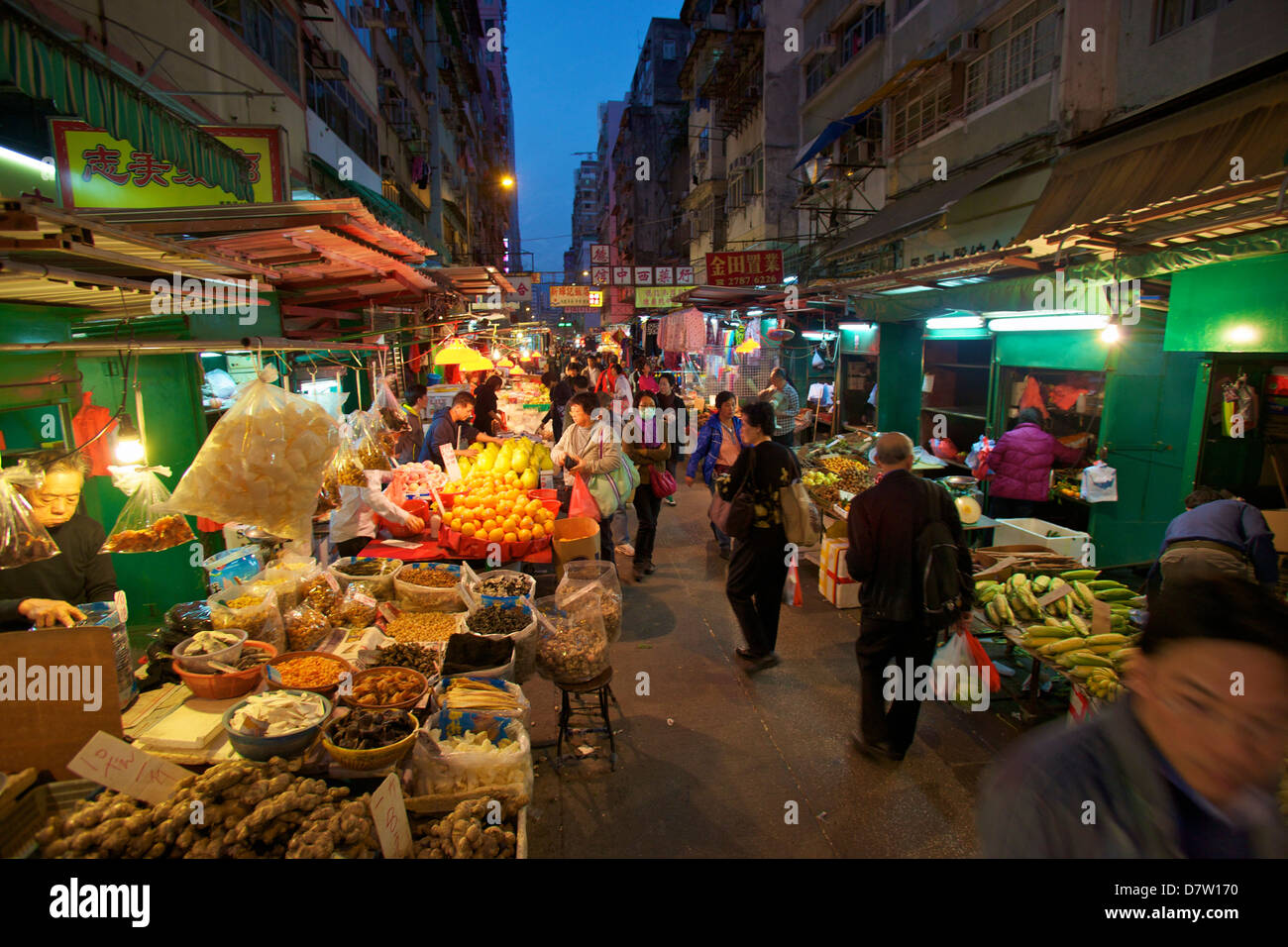 Street Market, Hong Kong, China - Stock Image